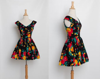 vintage 80s 90s Steppin' Out floral dress