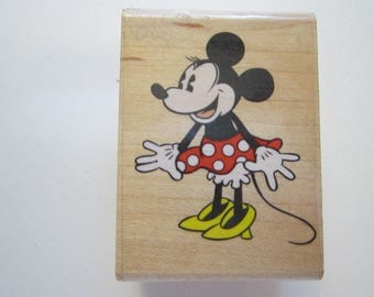 rubber stamp - CLASSIC MINNIE MOUSE - Rubber Stampede 329D - gently used