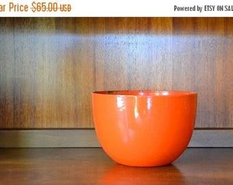 CIJ SALE 25% OFF vintage finel kaj franck orange enamel bowl