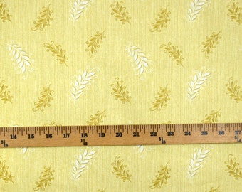 Fabric REMNANT 2.75 Yards Yellow Contemporary Floral