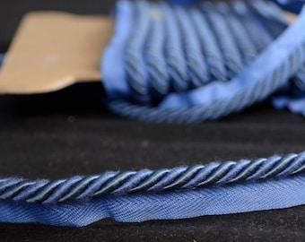 "1/4"" BC10008 WB Solid Blue Lip Cord Trim"