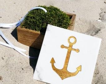 Anchor Ring Box / Nautical Wedding / Ring Bear Box