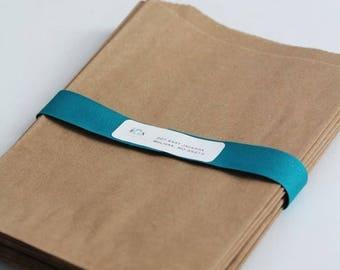 ON SALE Kraft Paper Bags Set of 5 bags-  6 1/4 x 9 1/4