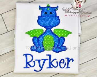 Boy Dragon Shirt - Baby Boy Dragon Shirt - Dragon Year Party Outfit - Baby Boy Outfit - Baby Gift - Baby Boy Clothes - Personalized Outfit