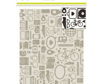 Studio Calico AMELIA 4x6 Embossing Folder A2 Seven Paper Travel Vacation City
