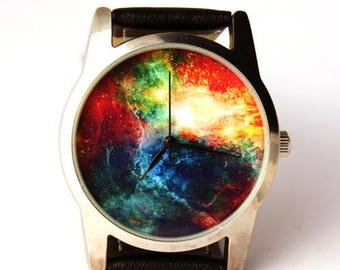 ON SALE 25% OFF Watch, Nebula Hubble space photo, unisex watch, women watch, men wrist watch