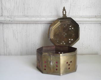 Vintage Brass Jewelry Box Brass Cricket Box