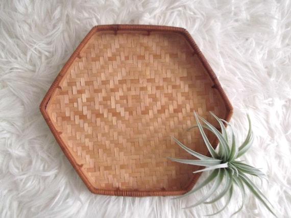 Woven Basket Wall Decor wicker tray boho decor woven rattan tray bohemian basket wall