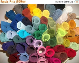 ON SALE Wool Felt  sheets pack of 10 any colors 9 x 12 OVER 90 Colors