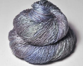 Nimue's violet pearl  - Tussah Silk Lace Yarn