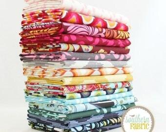 "Moon Shine - Half Yard Bundle - 17 - 18""x44"" Cuts - Tula Pink - Free Spirit Quilt Fabric"