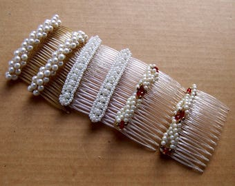 6 retro faux pearl vintage hair combs hair accessories decorative comb hair jewelry vintage hair