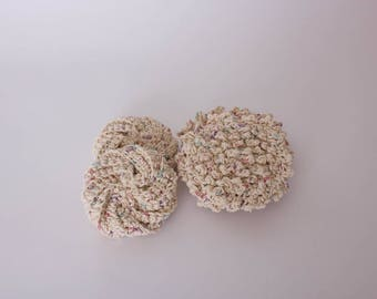 Eco Friendly Scrubbie Set, Crochet Scrubbie Set, Tawashi Scrubbies, Bubble Scrubbies