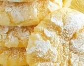Lemon Crackle Cookies, Lemon Drop Cookies, Homemade Baked Goods, Butter Cookie, Edible Food Gift, Lemon Sweet Treats, Easter Sweets