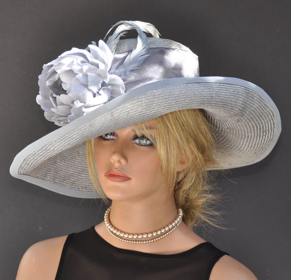 Kentucky Derby Hat, Ascot Hat, Wedding Hat, Wide Brim Hat, Formal Hat, Event Hat, Special Occasion Hat, My Fair Lady Hat, Dressy Hat