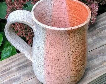 Coffee Mug in Neon Orange & White