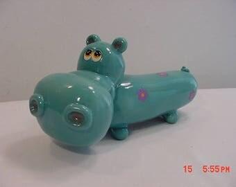 Vintage Hippopotamus Ceramic Bank  17 - 976