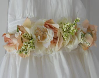 Beach Wedding Dress Sash