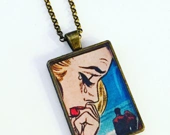 Heart Break Pendant Necklace