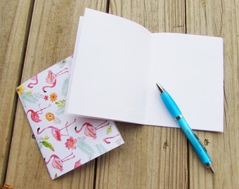 Blank Paper Notebook 2-Pack A2 Size (Various Patterns -- Made From Upcycled Cards)