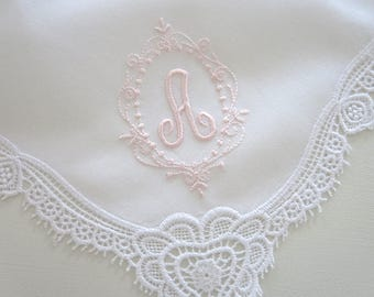 Bridesmaid Wedding Handkerchiefs, Bridal Party Wedding hankerchiefs, Monogrammed handkerchiefs, Personalized handkerchiefs, Wedding hankies