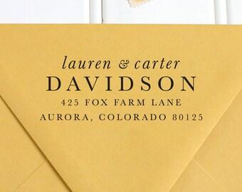 Return Address Stamp, Address Stamp, Self Inking Return Address Stamp, Wedding Return Address Stamp, RSVP Stamp, Custom Stamp - No. 62