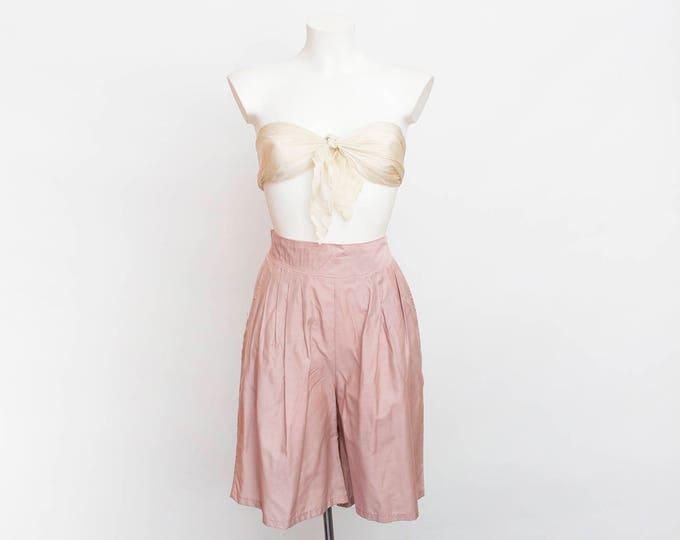 NOS Vintage bermuda Shorts mauve pink