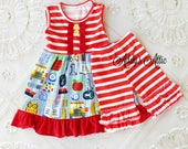 Girls Back to School Outfit, Toddler Girls School Outfit, Toddler Girls Outfit, Preschool Outfit, Kindergarten Outfit