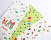 ON SALE! 6 large bag kraft paper rectangle, fruit cloud green balloon gift pouch, kids packaging