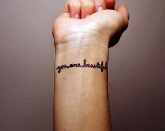 You Are Beautiful Flash Tattoo