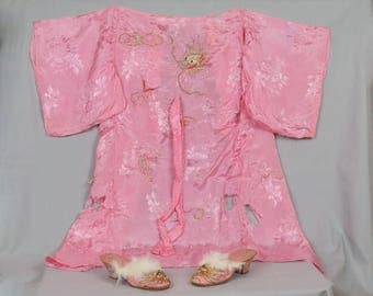 Silk Chinese Girl's clothing Robe Pants Jacket Shoes and Baby dress Vest Cloth shoes Cutter pieces 1930s