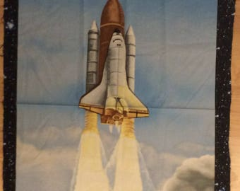 A Wonderful IWant My Space With The Space Shuttle By Benartex Quilting Fabric Panel Free US Shipping
