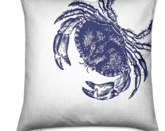 Handmade Nautical Crab Floor Cushion Cover