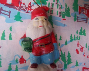adorable ceramic santa ornament