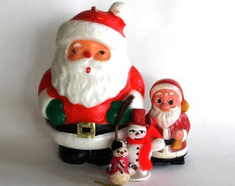 Vintage 1950's/60's Christmas Santa Claus Decoration Lot!