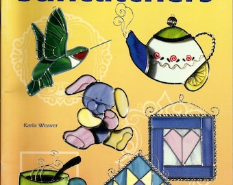 OOP 2000 'A Gallery of Suncatchers' Stained Glass Pattern Book - Great patterns!