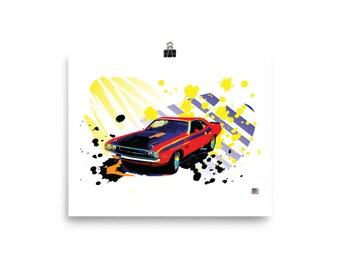 Classic Dodge Challenger Muscle car Prints