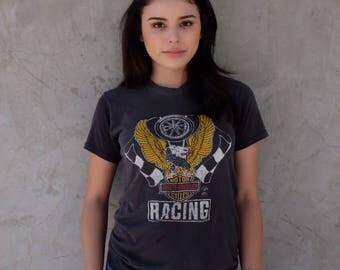 80's HARLEY DAVIDSON Racing Tee