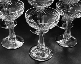 Hollow Stem Crystal Champagne Glasses Coupe Glasses Optic Glass Stemware
