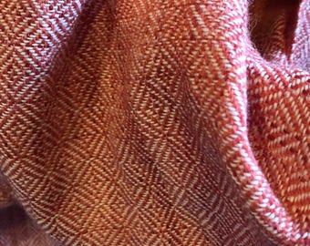 Anglo Saxon/Viking Handwoven Hand Dyed Fabric