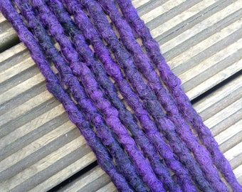 Purple and Black SE x8 Crochet Synthetic Dreads