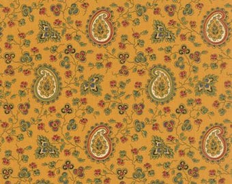 Lorraine - Golden Paisley Print, Quilting Fabric by American Jane from Moda