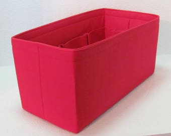 Ready to Ship ..Neverfull GM (14.5x7x7)... Red.... Purse Insert ORGANIZER . . Strong and Durable -  #A7