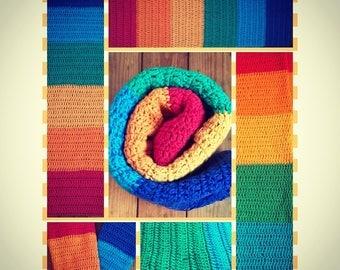 100% Cotton Crochet Rainbow Baby Blanket