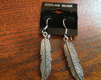 Leaf Earrings, Dangle Earrings, Silver Earrings, Long Earrings, Gift for Her, Leaves Earrings, Sterling Silver, Leaf Jewelry, Silver Jewelry