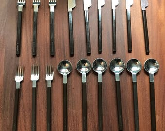 Air France Raymond Loewy MCM Flatware Set Silverware 18 Pieces