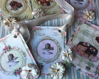 Vintage Inspired Hang Tags Cottage Chic  Gift Tag