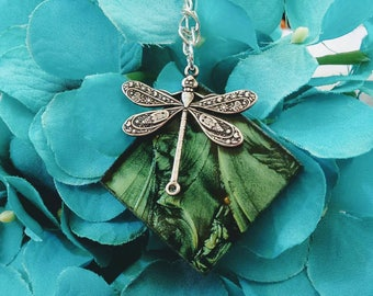 Dragonfly dragonfly lovers dragonfly gifts dragonflies renewal rebirth memorial garden creatures stained glass necklace brockus creations