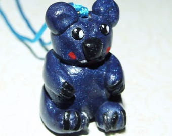 Necklace 'kawaii bear', polymer