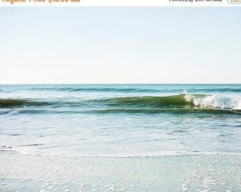 SALE Clearance Sale, Malibu, ocean Waves, Sea Green, Nautical Art, Coastal Decor, Beach Print, 8x10 Photograph, On Sale Art Print
